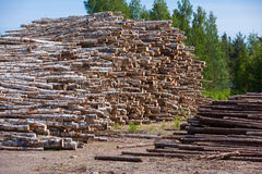 Logs. On top of each Stock Image