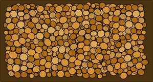 Logs background Royalty Free Stock Photography
