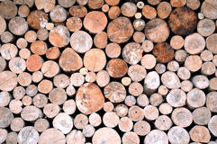 Logs background Stock Images