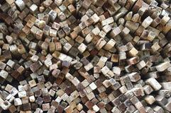 Logs background Stock Photo