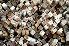 Logs background Stock Photos