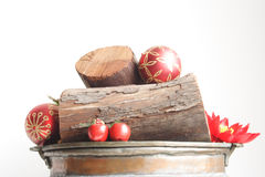 Logs and balls Royalty Free Stock Images
