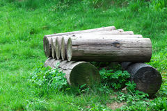 Logs. In closer look / details Stock Photo
