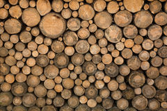 Logs de madeira empilhados Foto de Stock Royalty Free