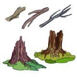 Logs e cotoes ajustados Imagens de Stock