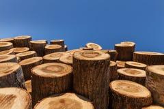 Logs each other Stock Photos