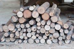 Logs empilés Images stock