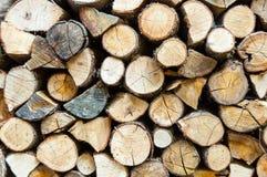 Logs empilhados Imagens de Stock