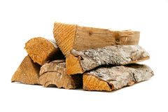 Logs, fire wood. On white background Royalty Free Stock Images