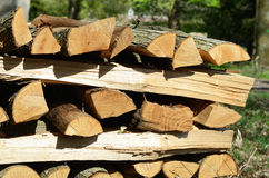 Logs for fireplaces Stock Image