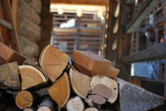 Logs of firewood Stock Photos