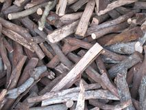 Logs for firewood. Pile of logs for firewood Stock Photo