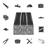 Logs icon. Detailed set of construction materials icons. Premium quality graphic design. One of the collection icons for websites,. Web design, mobile app on Royalty Free Stock Photo