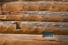 Logs In The Wall 89 Stock Photo