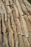 Logs inside a charcoal kiln Stock Photos