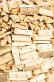 Logs on a lumber yard Stock Photo