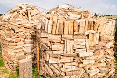 Logs on a lumber yard Stock Photography