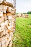 Logs on a lumber yard Royalty Free Stock Image