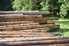 Logs para casas do log Foto de Stock Royalty Free