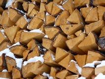 Logs para a chaminé Foto de Stock Royalty Free