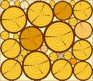 LOGS PATTERN. Wood for the manufacture of building materials Stock Images