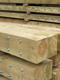 Logs with screws. Suitable as background Royalty Free Stock Photos