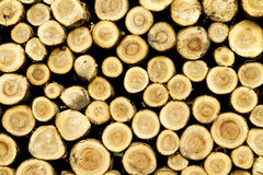 Logs stacked Royalty Free Stock Photos