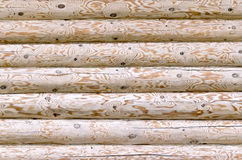 Logs stacked texture Royalty Free Stock Images