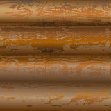 Logs_texture. Texture of hewn logs with bark residue of light brown color Royalty Free Stock Image