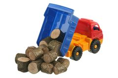 Logs in the truck Royalty Free Stock Photography
