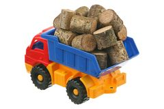 Logs in the truck Royalty Free Stock Images