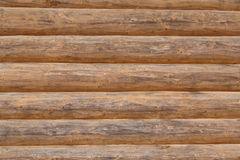 Logs wall background Royalty Free Stock Photos