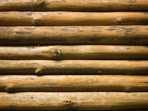 Logs Wall. Horizontal Logs/timber/wood Wall Stock Photography