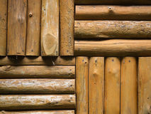Logs Wall. Mixed Logs Wall - Horizontal and Vertical Royalty Free Stock Photo