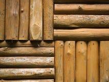 Logs Wall Royalty Free Stock Photo
