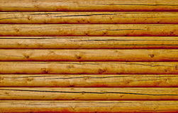 New log wall background Stock Images