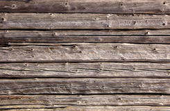 Logs in the wall. A structure Royalty Free Stock Images