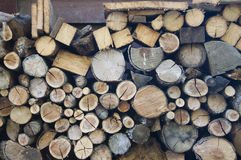 Logs of wood Stock Photo