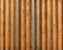 Logs wood wall Stock Image