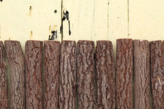 Logs on wooden background. Close up of logs on wooden background Stock Image