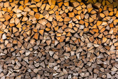 Logs woodpile close up background Stock Photos