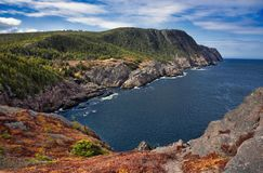 Logy Bay coastline in Newfoundland royalty free stock photography