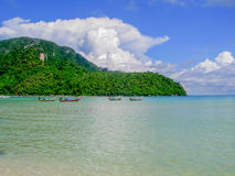 Loh Dalam Bay by day, Phi Phi Island Thailand Stock Photos