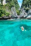 Loh sa ma bay the entrance to maya bay Phi Phi Islands andaman s Royalty Free Stock Images