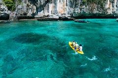 Loh sa ma bay the entrance to maya bay Phi Phi Islands andaman Royalty Free Stock Images
