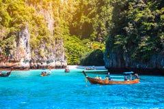 Loh sa ma bay the entrance to maya bay Phi Phi Islands andaman Royalty Free Stock Photos