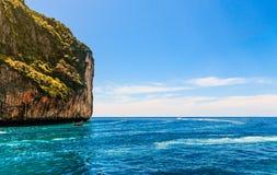 Loh sa ma bay Phi Phi Islands andaman sea Krabi, South of Thaila Royalty Free Stock Photo