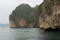 Loh samah bay at phi-phi island, krabi Thailand. Royalty Free Stock Photography