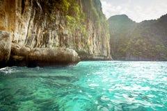 Loh Samah Bay at Phi Phi Island, Thailand Stock Photos