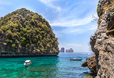 Loh samah bay on summer day in Thailand. Stock Images